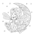 cute fairy girl in flowers vector image vector image