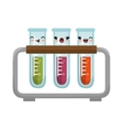 cute kawaii test tube rack icon design vector image
