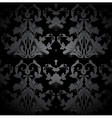 Dark Seamless Damask Pattern vector image