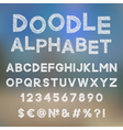 Decorative doodle alphabet vector image vector image