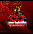 demon esport mascot logo design vector image vector image