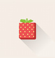 design fresh strawberry icon with pastel grid vector image
