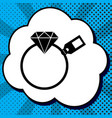 diamond sign with tag black icon in vector image vector image