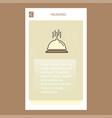 dish mobile vertical banner design design vector image vector image