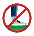 do not step on grass sign vector image vector image