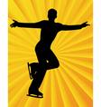 figure skater6 vector image vector image
