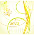 floral calendar 2012 june vector image