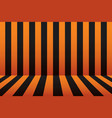 halloween stripe room black and orange background vector image