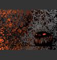 happy halloween party text banner and pumpkin vector image vector image