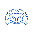 hedgehog head line icon concept hedgehog head vector image vector image