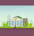 municipal buildings cartoon facade bank and vector image