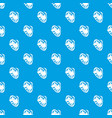 no dogs pattern seamless blue vector image