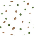 oak and maple leaf pattern seamless vector image vector image