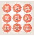 Orange sale badge stickers set vector image vector image