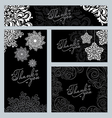 ornament and snowflake pattern vector image