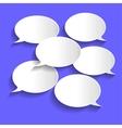 Paper Chat Bubbles vector image