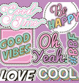 patches fashion image vector image