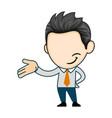 professional business man waving hand vector image