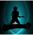 rock musician poster vector image vector image