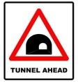 Russia Tunnel Ahead Sign vector image vector image