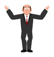 sad businessman mournful boss bored manager vector image vector image