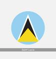 saint lucia round circle flag vector image