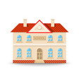 school building in flat cartoon style isolated on vector image