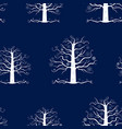 seamless pattern of decorative frozen trees vector image vector image