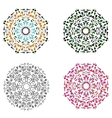 Set of four circular patterns vector image