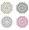 Set of four circular patterns vector image