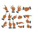 set various hands gestures vector image vector image