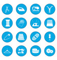 sewing icon blue vector image vector image