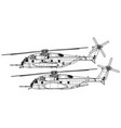 sikorsky ch-53e super stallion vector image vector image