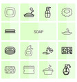 soap icons vector image vector image