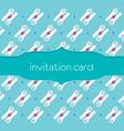 Spoon Fork Invitation Card vector image