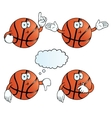 Thinking basketball set vector image vector image