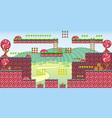 tile set platform for game 26 vector image