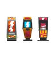 vintage slot machines set gambling casino vector image