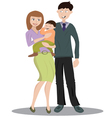 family with one child vector image