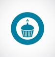 cake icon bold blue circle border vector image