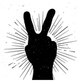 Distressed peace sign silhouette vector image