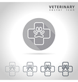 Veterinary outline icon vector image