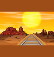 a wild west background vector image