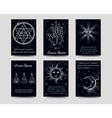 Alchemy and isoteric cards set vector image vector image