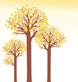 Autumn tree background vector image vector image