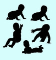 baby gesture silhouette vector image vector image