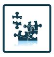 Baby puzzle icon vector image vector image