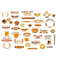 Bakery and pastry isolated design elements vector image vector image
