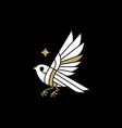 bird star logo icon vector image vector image