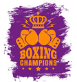 boxing purple vector image vector image